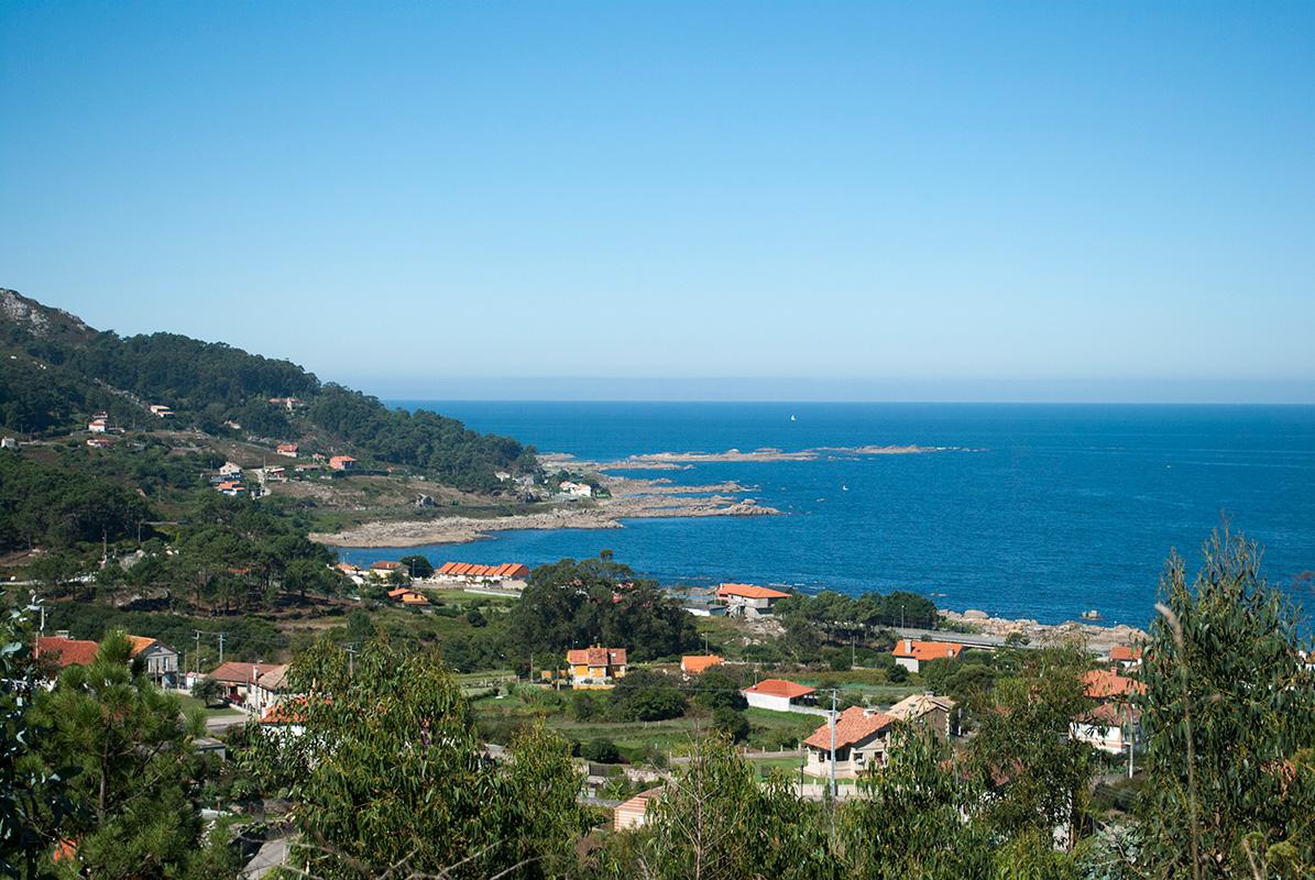 Vista litoral de Baredo