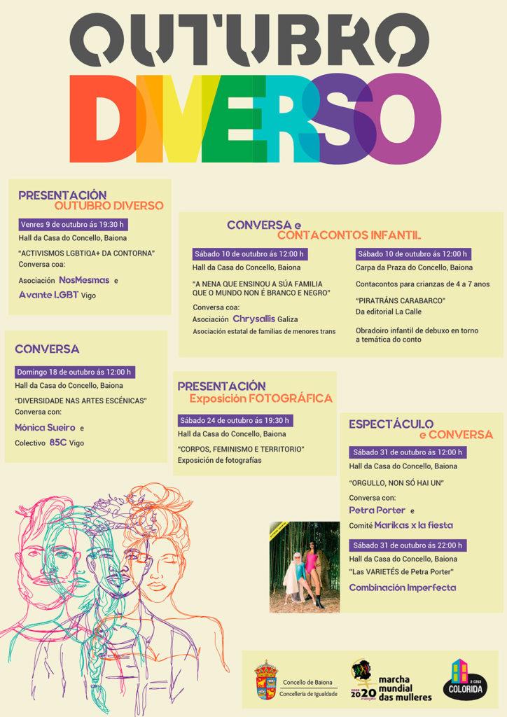 cartel outono diverso Baiona Baiona