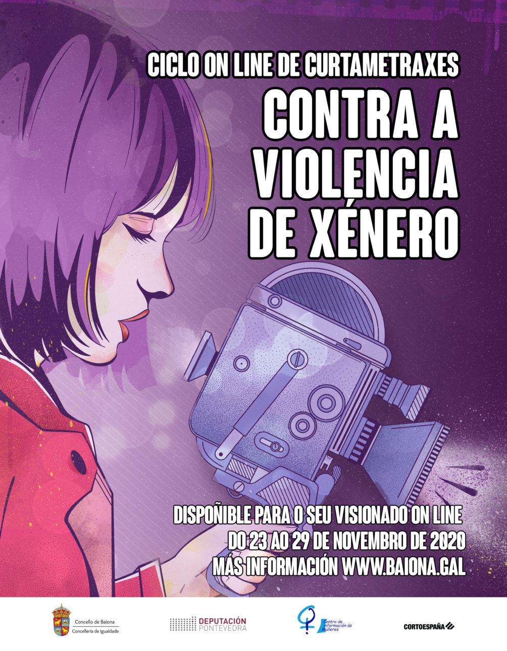 cartel cortos contra a violencia de xenero scaled Baiona