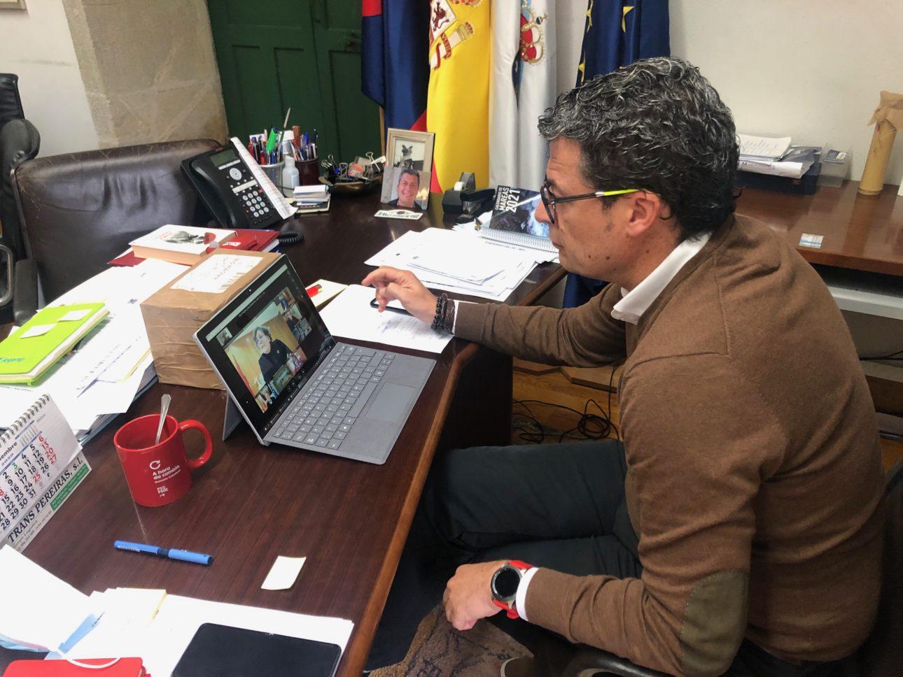 Reunion Telematica Alcalde de Baiona y Responsables Conselleria Sanidade scaled Baiona