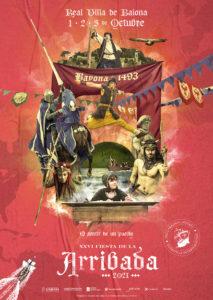 Carteleria XXVI Edicion Festa da Arribada Baiona