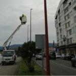 Baiona continúa co seu plan para mellorar a iluminación pública da localidade co cambio de luminarias por tecnoloxía LED