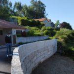 O Concello de Baiona finaliza a reconstrución dun muro de contención en Belesar