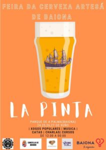 Cartel I Feria Cervexa Artesa de Baiona La Pinta Baiona
