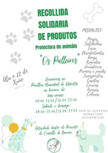 Cartel Recollida Solidaria Baiona