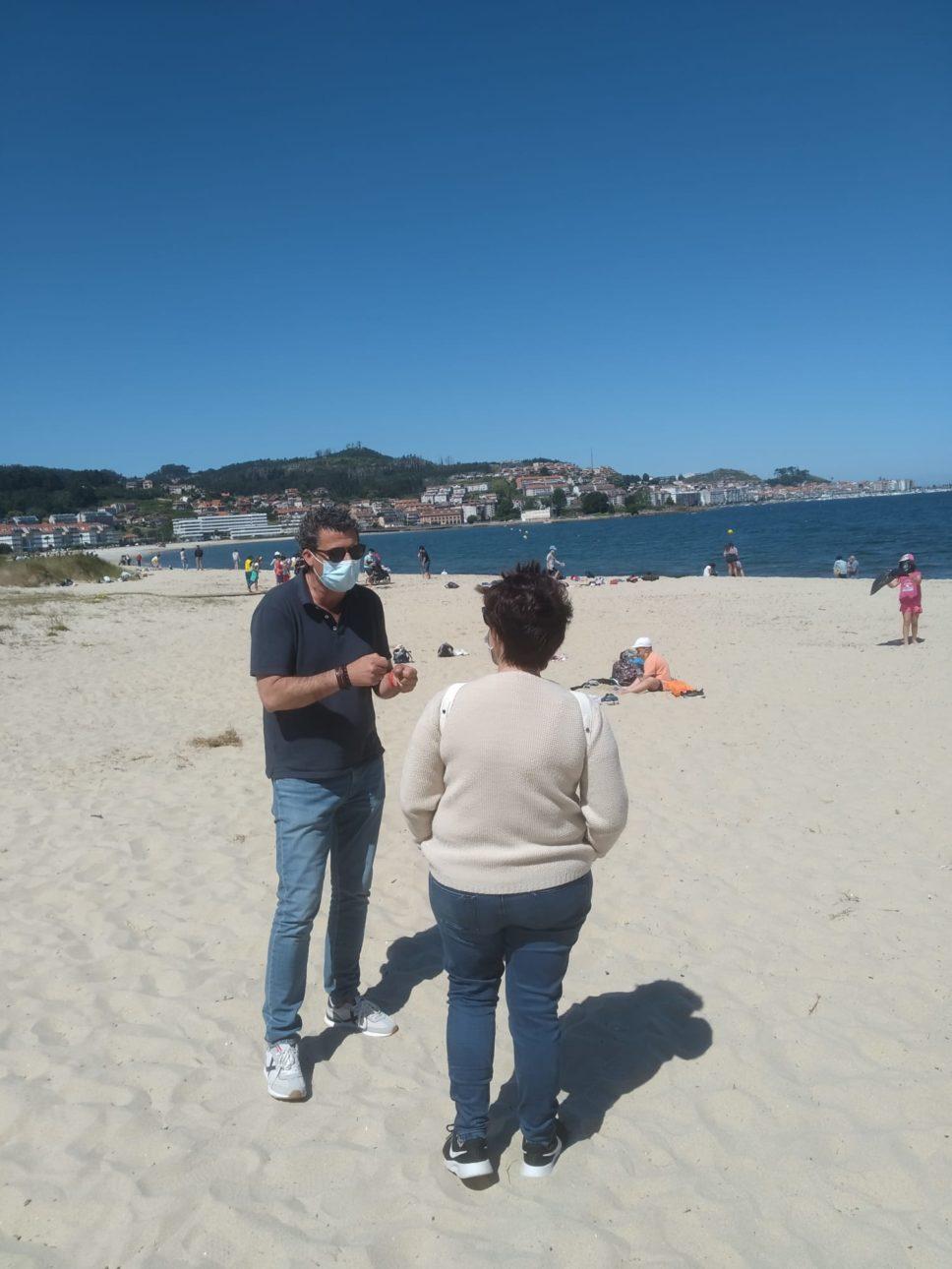 Limpieza Playa Ladeira scaled Baiona