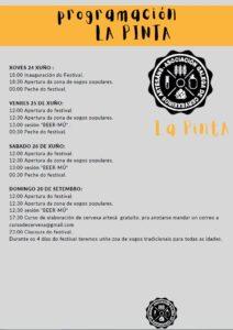 Programacion I Feria da Cervexa Artesa La Pinta Baiona