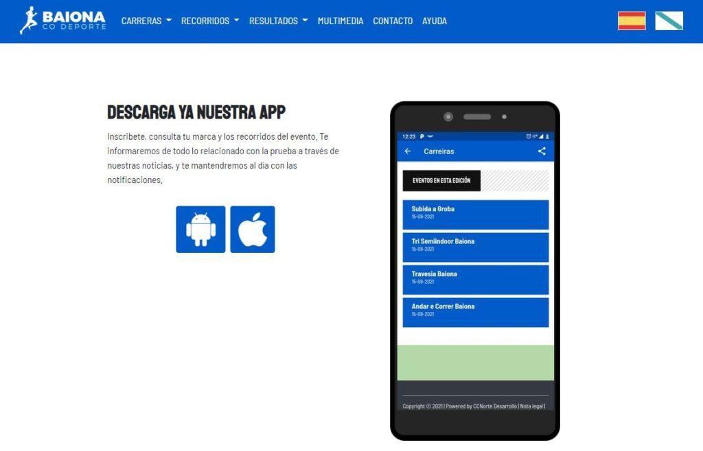 Subvir web app Baiona