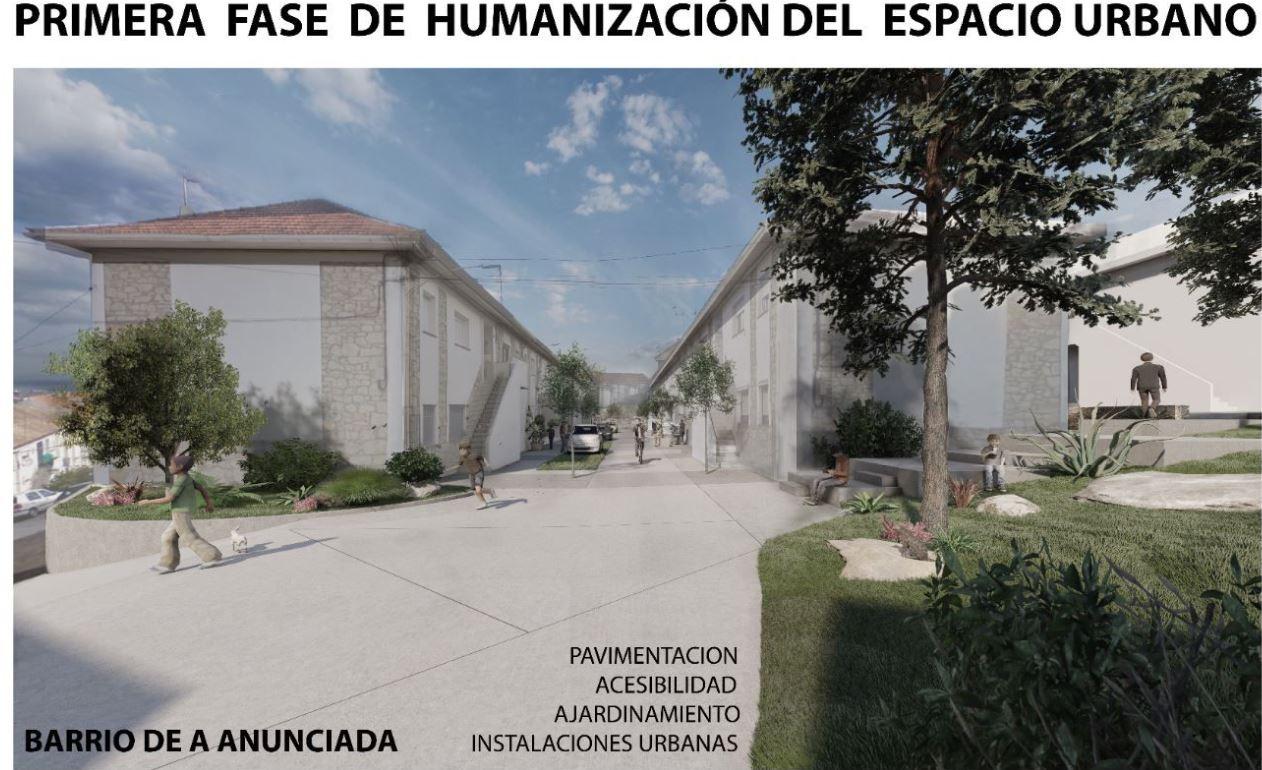 Primera Fase de Humanizacion del Espacio Urbano del Barrio de A Anunciada Baiona