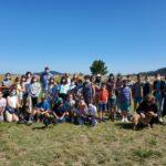"""As persoas participantes en """"Vincúlate"""" reciben a visita dos integrantes do proxecto socioeductaivo EncaixaT"""