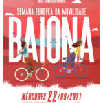 Baiona organiza unha marcha con bicicletas polo carril bici para celebrar o día de ¡A Cidade Sen Coches!