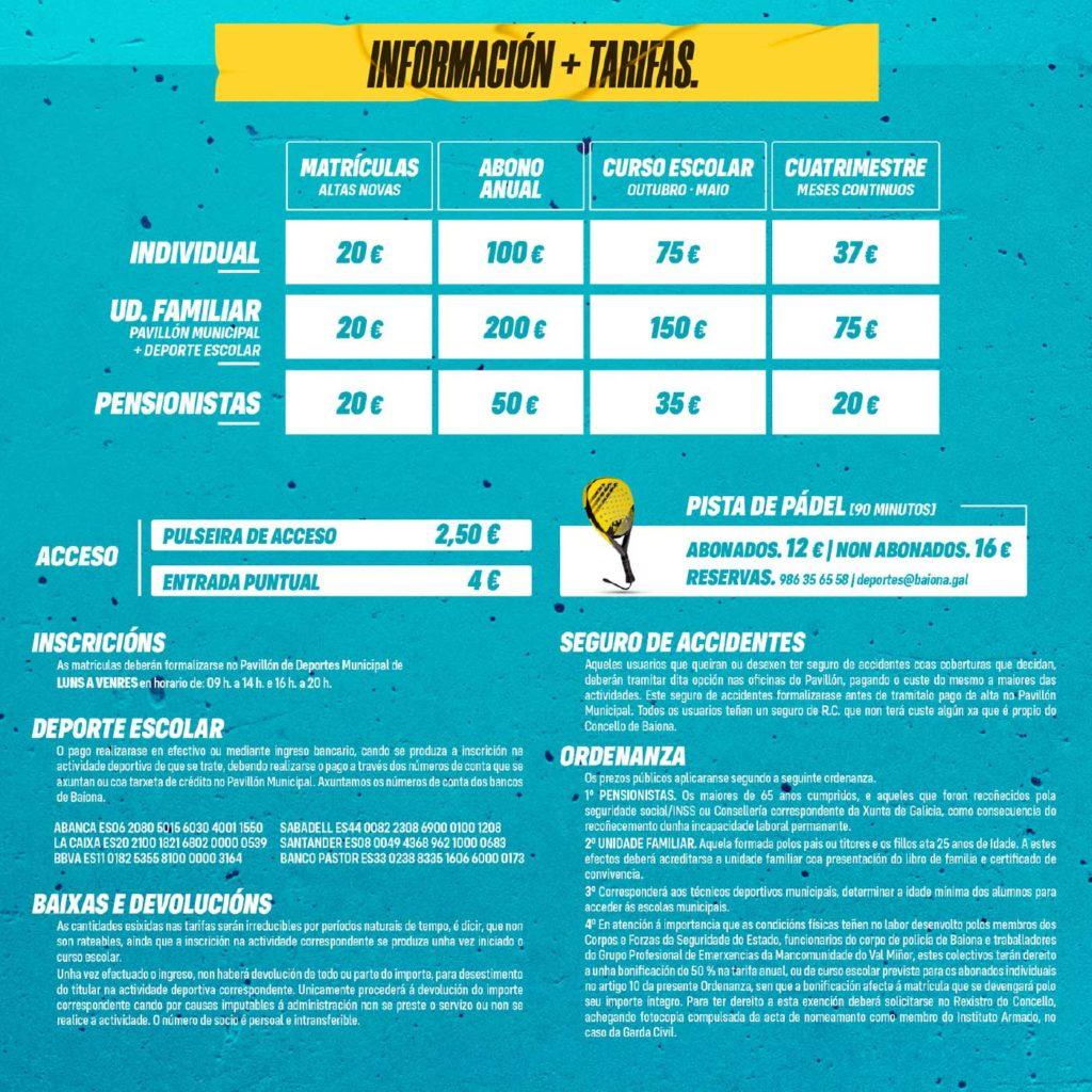 folleto oferta deportiva 2021 5 Baiona